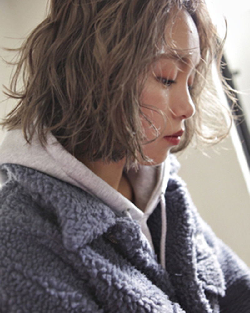 beff(べフ)京都四条河原町のヘアサロン-切りっぱなしボブ × くるくるウェーブ